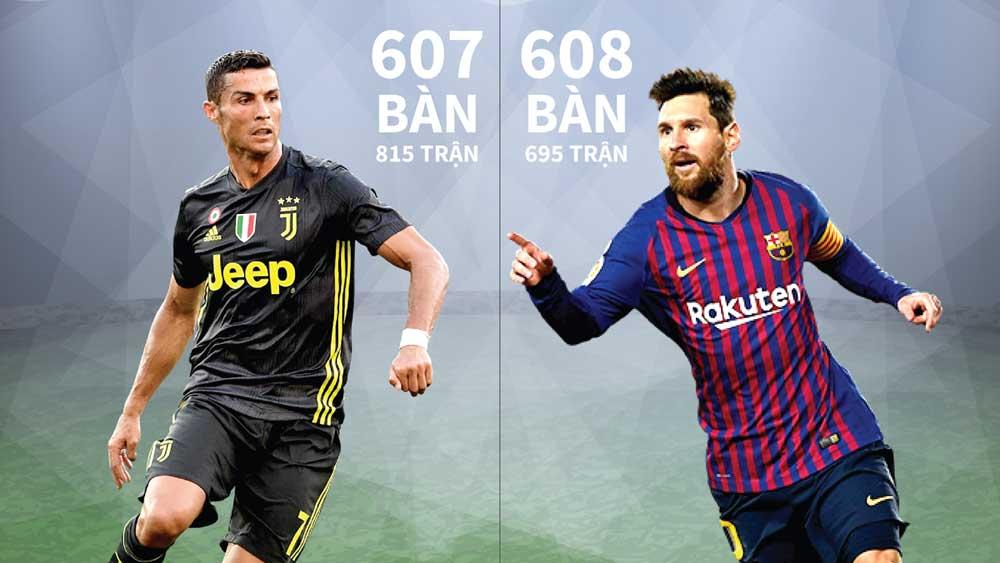 Messi vượt kỷ lục ghi bàn của Cristiano Ronaldo